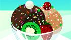 Décore des glaces délicieuses