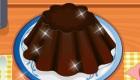 Cuisine du flan au chocolat
