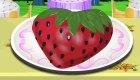 Gâteau d'anniversaire en forme de fraise