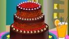 Décoration d'un gâteau au chocolat
