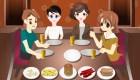 Au restaurant en famille
