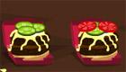 Hamburger en préparation
