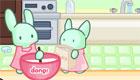 Cours de pâtisserie avec les lapins