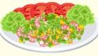 Cuisine une salade avec des fruits