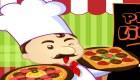 Dans la cuisine d'une pizzeria