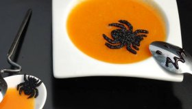 Soupe orange d'Halloween