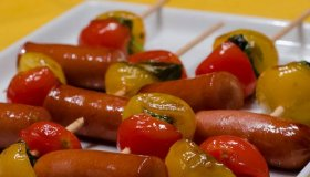 Mini-brochettes de saucisses