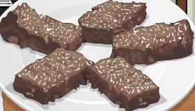 Cuisine des brownies extra chocolat