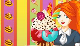 Décore des boules de glaces