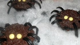 Muffins araignées d'Halloween