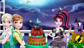 Pièce Montée Reine des Neiges Vs Monster High