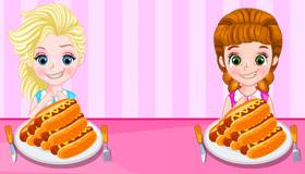 Jeu des princesses mangeuses de hot-dogs