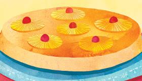 Gâteau à l'ananas pour filles