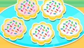 Cuisine des cookies colorés