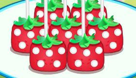 Sucettes maison fraise