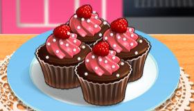 Cupcakes moelleux chocolat framboises de Sara
