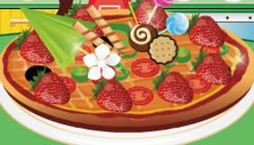 Pizzas sucrées aux fruits