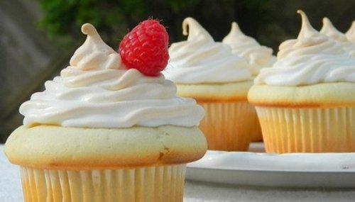 Cupcakes framboise-coco